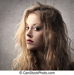 pretty woman - portrait of a pretty blonde woman