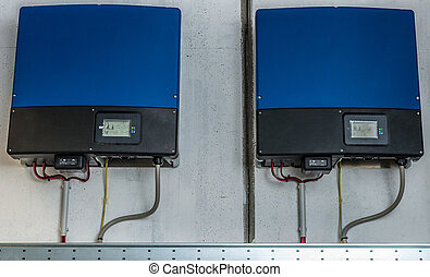 Inverter of an industrial photovoltaic system installed and...