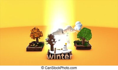 4 Seasons - 	Concept animation 4 seasons, matte included.