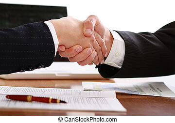 Handshake - this two men handshake