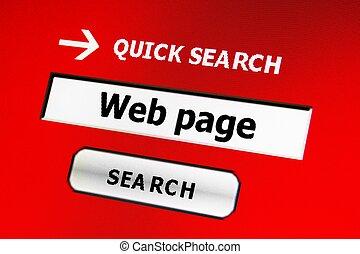 Web page search