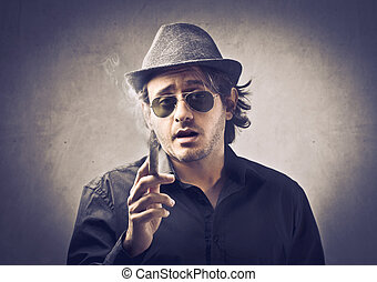 Gangster with cigar