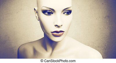 dummy woman without hair