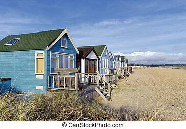 Vibrant Luxury Beach Huts at Mudeford Spit - Beach huts and...
