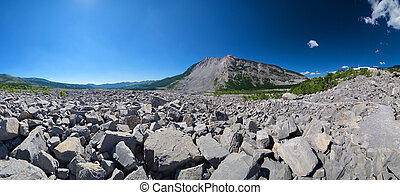Frank Slide Interpretive Trail A - Wide shot of Frank Slide...