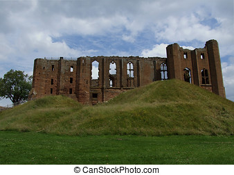 Kenilworth Castle with a stormy sky