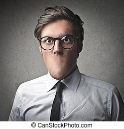 without mouth - businessman without mouth