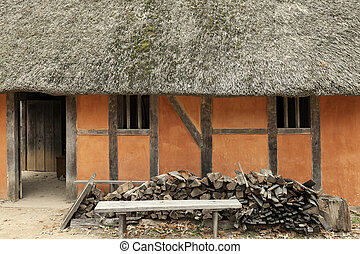 Jamestown - historic house. First English settlement in the...