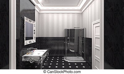 Luxurious designer bathroom