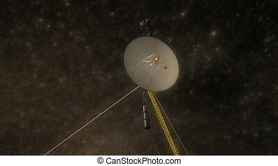 Voyager space probe - Artist rendering, Voyager space probe