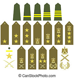 Egyptian army insignia - Epaulets, military ranks and...