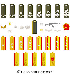 Epaulets Chinese army - Epaulets, military ranks and...