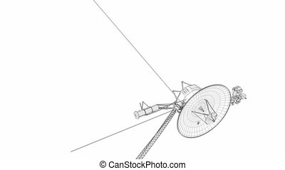 Voyager space probe - Artist rendering , Voyager space probe...