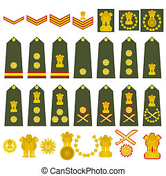 Indian Army insignia - Epaulets, military ranks and...