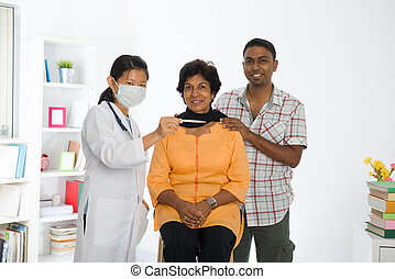 indian senior doctor appointment medical checkup