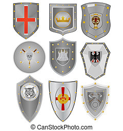 Knightly boards - Various knightly boards with symbolics. An...