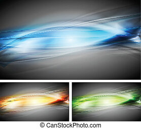 Vibrant vector backgrounds - Colourful abstract backgrounds...
