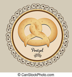 bakery icon - Illustration of pretzel and food, bakery icon,...