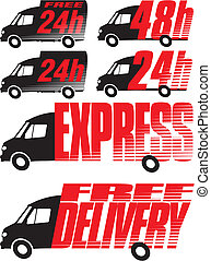 delivery icon - shipping - Free and express delivery, fast...