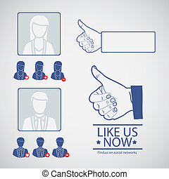social networks - Illustration icon social networks, profile...