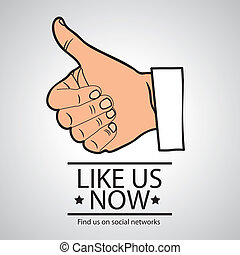 social networks - Illustration icon social networks, like us...
