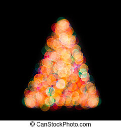 christmas tree bokeh light