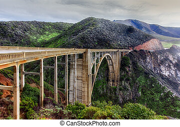 Bixby Bridge - Famous Bixby Bridge in Big Sur, California