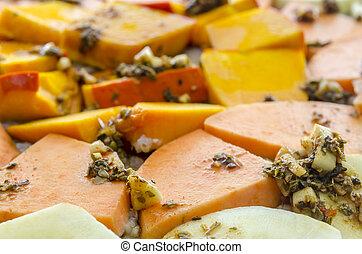 Macrobiotic food - Closeup of healthy macrobiotic food.