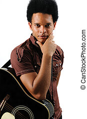 Trendy african musician - Portrait of young trendy african...
