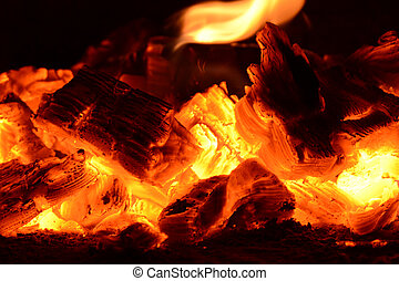 coal ashes fire flame firewood - firewood coal and ashes...