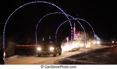 Christmas Light in Wonderland in the park