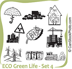 ECO - Green Life - vector set. - Ecology - vector...