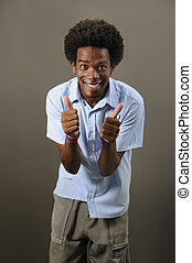 Cheerful latino man - Portrait of young positive african...