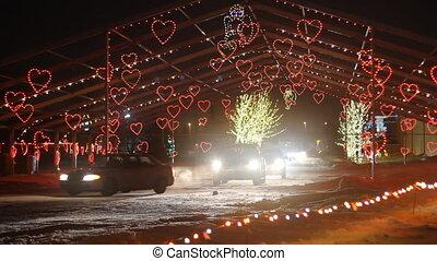 Christmas Light - Hearts Christmas Light in Wonderland in...