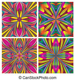 Set of seamless art deco tiles - Vector artwork with...