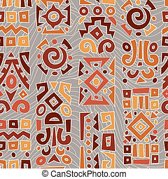 Background with elements of African ornament - Ethnic...