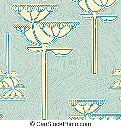 seamless pattern from flower branch