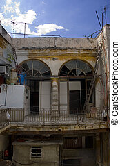 Eroded cuban building
