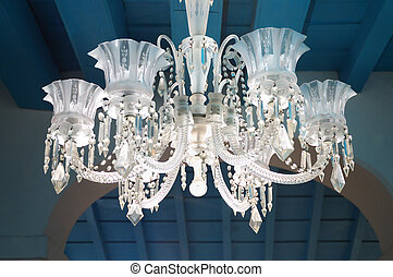 Luxurious ceiling lamp - Detail of Luxurious ceiling lamp in...
