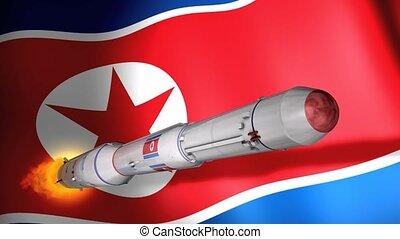 Unha-3 rocket - North Korea DPRK long-range rocket Unha-3.