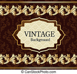 Vintage background with gold