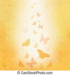 Abstract butterfly vector background