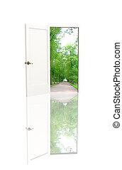 Door open in the real world - The door open in the real...