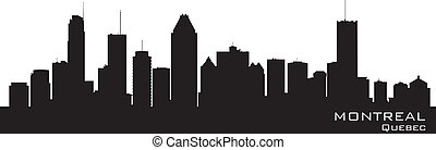 Montreal, Canada skyline. Detailed silhouette