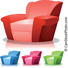 Cartoon Armchair Set