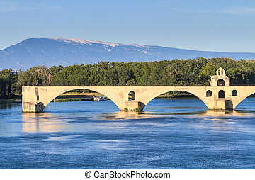 Avignon Bridge, Pont Saint-Beacute;nezet, Provence, France -...