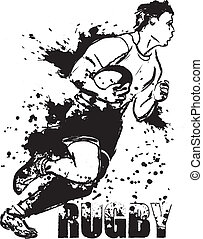 Grunge rugby - Running rugby with the ball