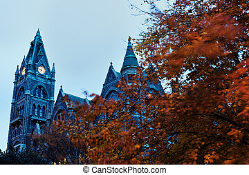 Old City Hall in Richmond - Old City Hall in downtonw of...