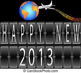 happy New Year 2013 mechanical time