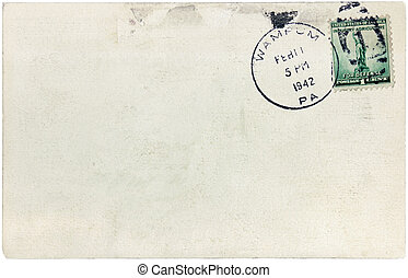 Statue of Liberty Stamp - USA - CIRCA 1942: A postage stamp...